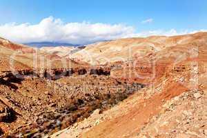 Marokko Landschaft mit Atlasgebirge 881