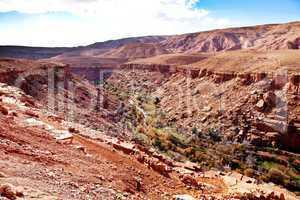 Marokko Landschaft mit Atlasgebirge 882