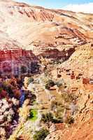 Marokko Landschaft mit Atlasgebirge 883