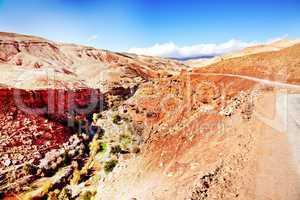 Marokko Landschaft mit Atlasgebirge 884