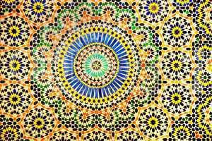 Innenwand einer Lehmburg von Marokko 909