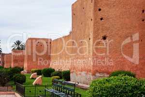 Stadtmauer von Marrakesch 308