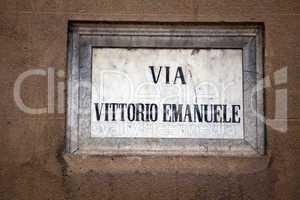Strassenschild in Palermo 302