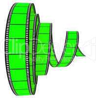 3d film Segment rolled forward
