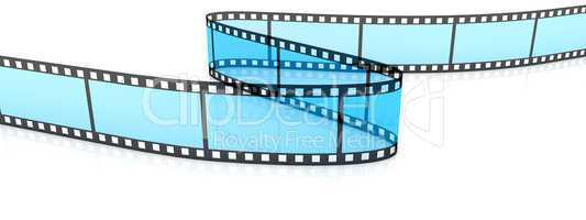 Colored 3d blank films zigzag