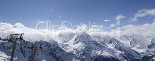 Ski resort. Panorama