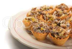 Mini mushroom tartlets