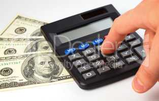 Calculator and money - accounting concept