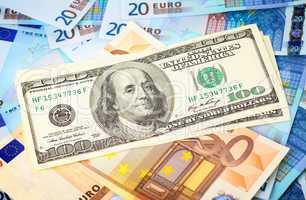 Dollars on top of Euro