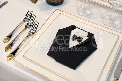 Luxuriös gedeckter Esstisch Luxuriously covered dining table