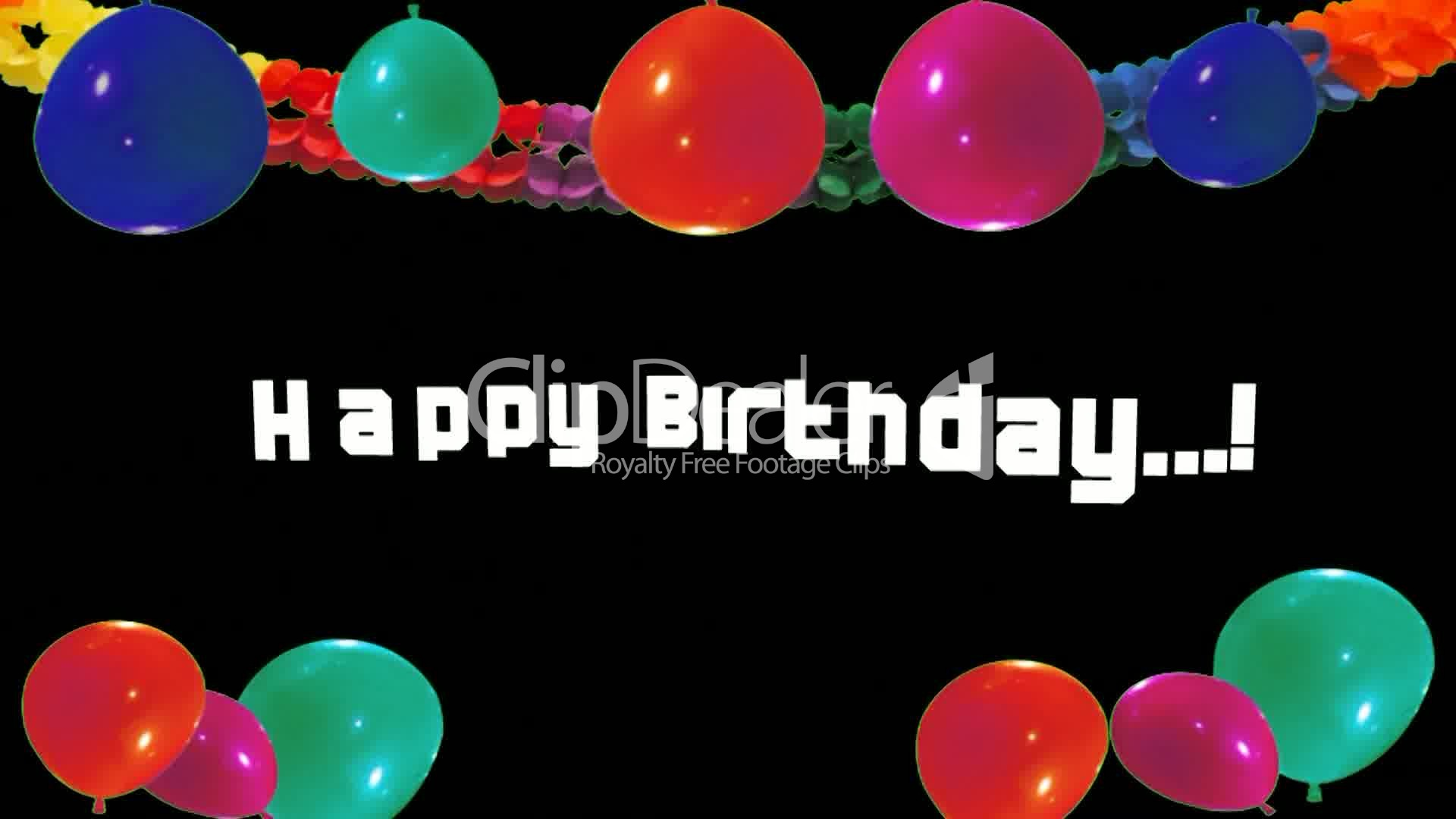Happy Birthday Colorful Balloons Video Animation