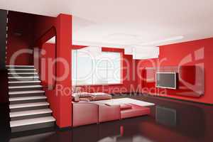 Interior of apartment 3d