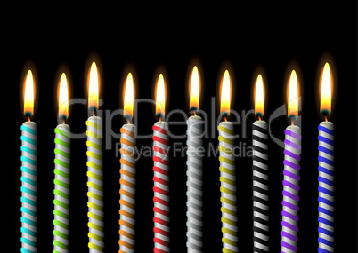 birthday candle stripe party