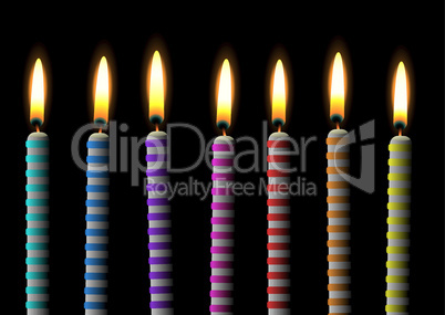 birthday candle stripe