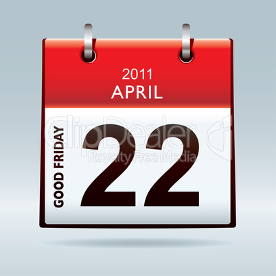 Good Friday calendar icon