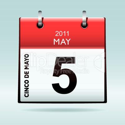 Cinco de Mayo calendar