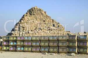 Pyramid and light