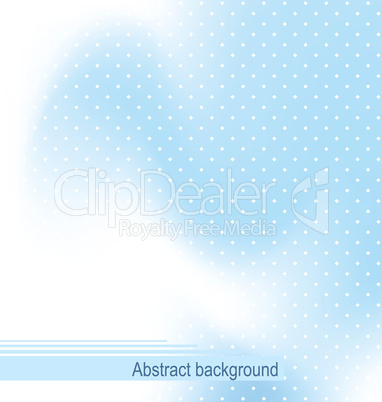Illustration the blue abstract techno cover design