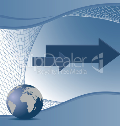 Illustration the abstract blue background for design business co
