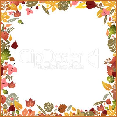 Background autumn frame