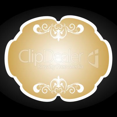 Royal background card for design