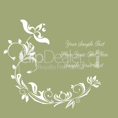 Illustration of luxurious invitation card
