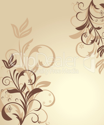 Illustration floral background