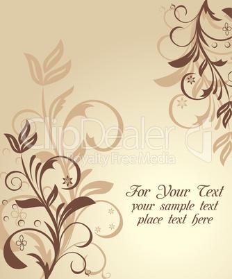 Illustration floral background