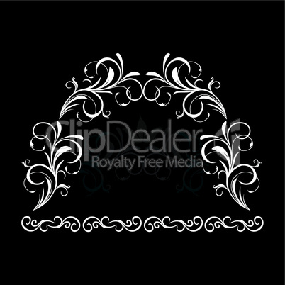 Illustration of white floral vintage background