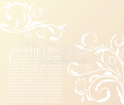 Illustration the floral decor element for design and border