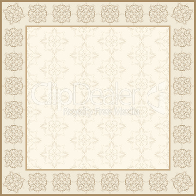 floral abstract frame