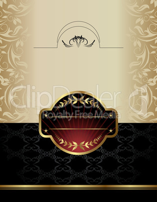 gold wine label
