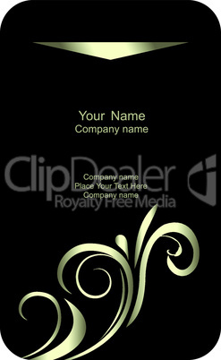 Illustration of  template card company label with name