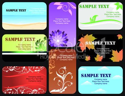 set horizontal colorful business card