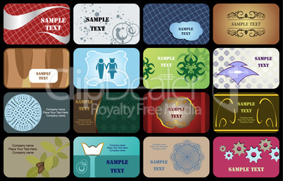 set variety horizontal business cards