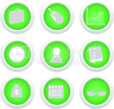 Green sticker with icon 9