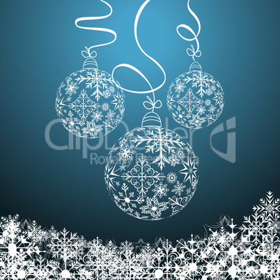 Illustration cute christmas composition