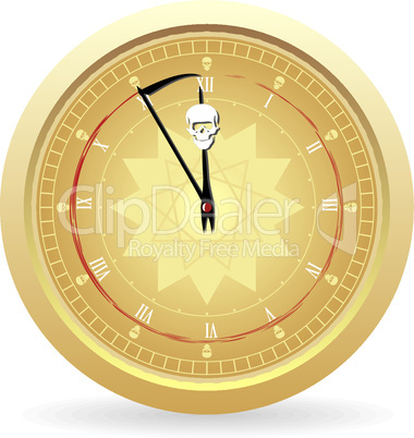 Illustration the clock of the death
