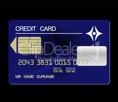 Realistic illustration credit card