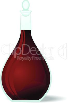 Illustration red wine decanter