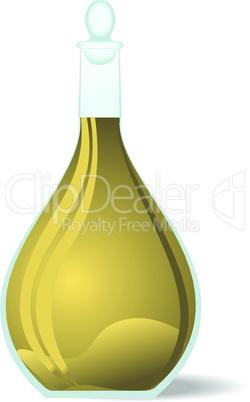 Illustration white wine decanter