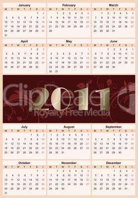 European floral calendar 2011