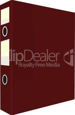 Realistic illustration of close red folder