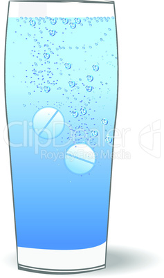 Illustration of two tablets in the water