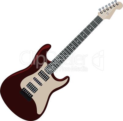 Realistic illustration electric guitar