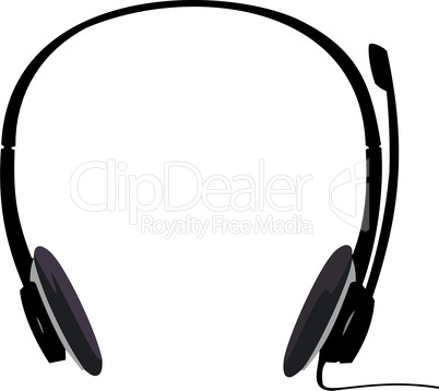 Realistic illustration of headset