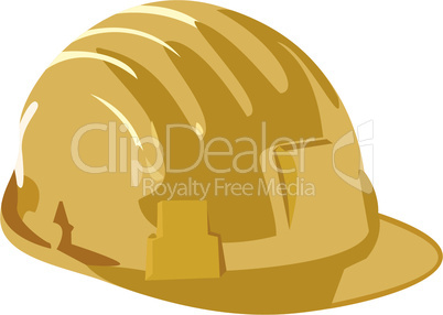 Helmet is isolated on white background