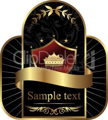 Golden royal label for design packing