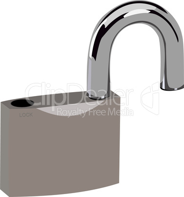 Realistic illustration of open lock