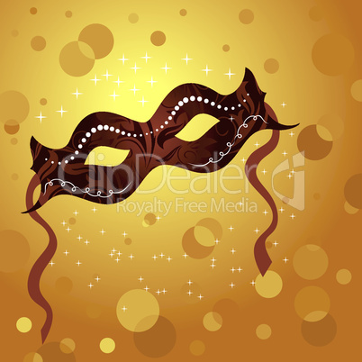 holiday background with theater mask